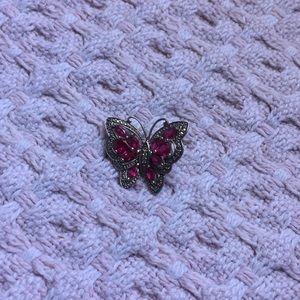 Jewelry - pink diamond butterfly